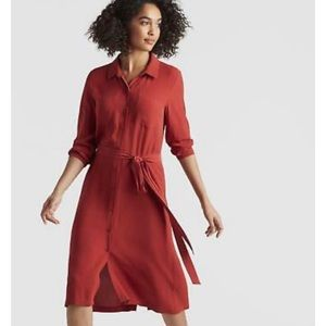 Eileen Fisher Silk Shirtdress Serrano L